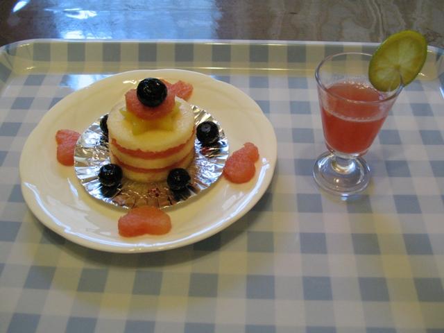 うーちゃん1歳の誕生日ケーキ