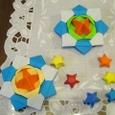 折り紙のコマと星