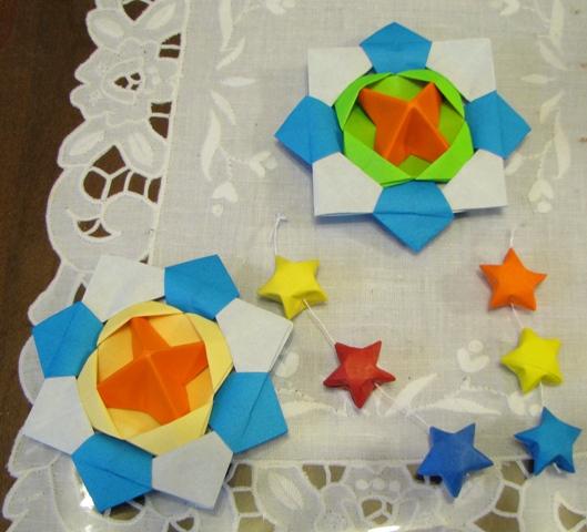 折り紙 の コマ と 星 折り紙 星 ...